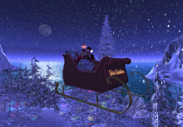 Antonio Galloway and Asea Ande went on the sleigh ride at Noel