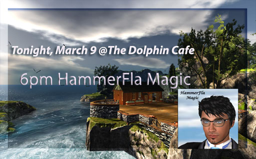 hammer @ The new Dolphin Cafe Logo sign copy