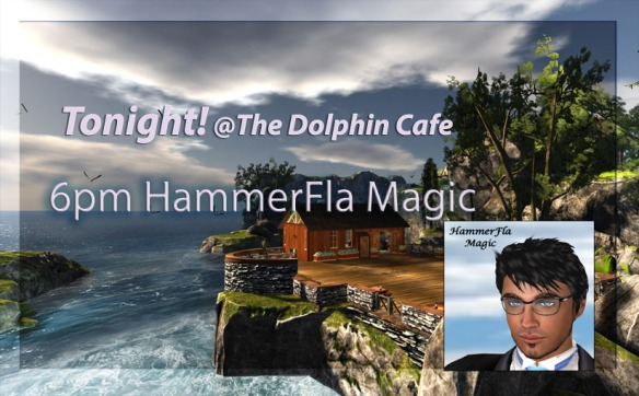 hammer @ The new Dolphin Cafe Logo2 sign