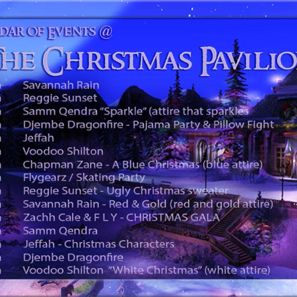 A CHRISTMAS DREAM CALENDAR OF EVENTS 2020